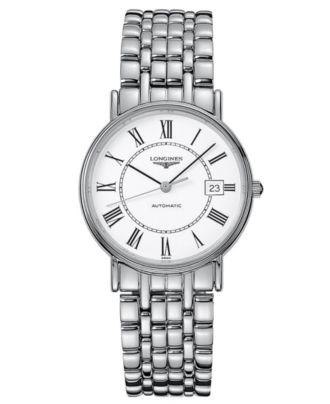 Longines Watch, Men's Swiss Automatic La Grande Classique Presence Stainless Steel Bracelet L48214116