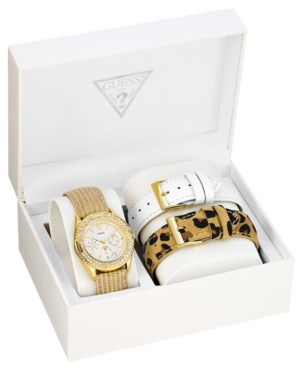 GUESS Watch, Women's Interchangeable Strap Set 38mm U13597L1