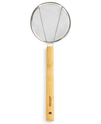 "IMUSA Bamboo 6"" Spider Skimmer & Strainer"