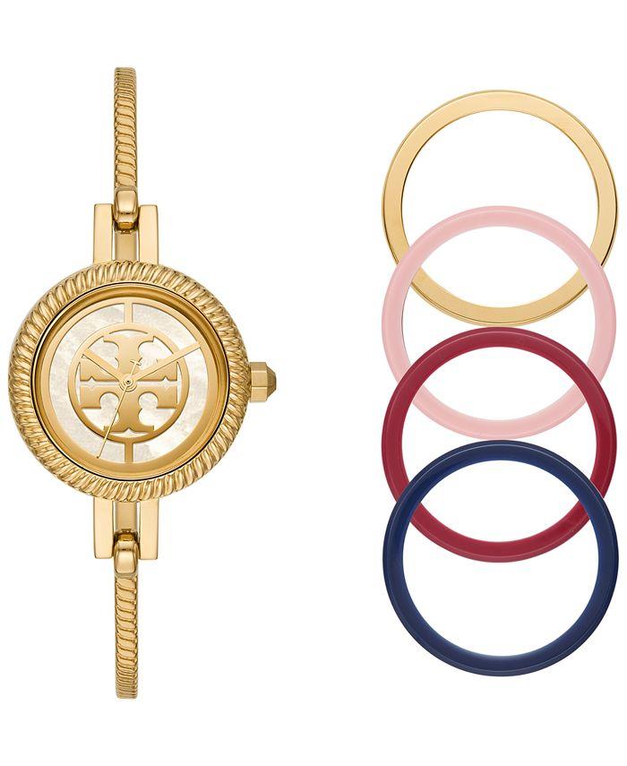 Tory Burch - Women's Reva Gold-Tone Stainless Steel Bangle Bracelet Watch 27mm