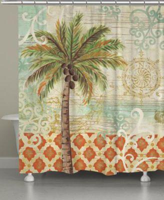 Spice Palm Shower Curtain