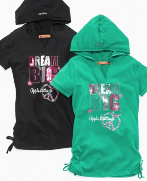 Apple Bottoms Kids Shirt, Girls Short-Sleeved Hoodie