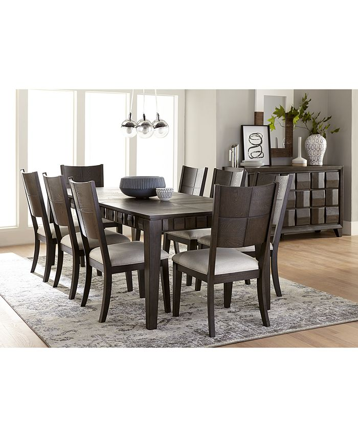 Furniture - Matrix Dining , 9-Pc. Set (Table & 8 Side Chairs)