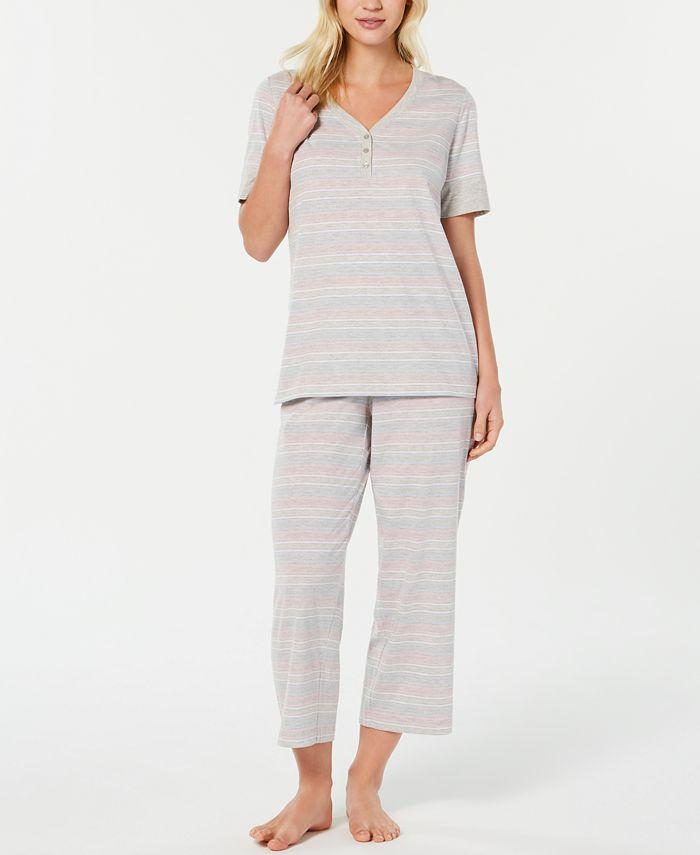 Charter Club - Scroll-Print Pajama Set
