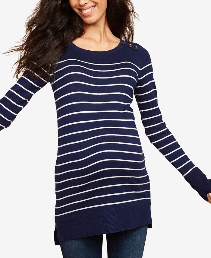 Motherhood Maternity - Maternity Striped Sweater
