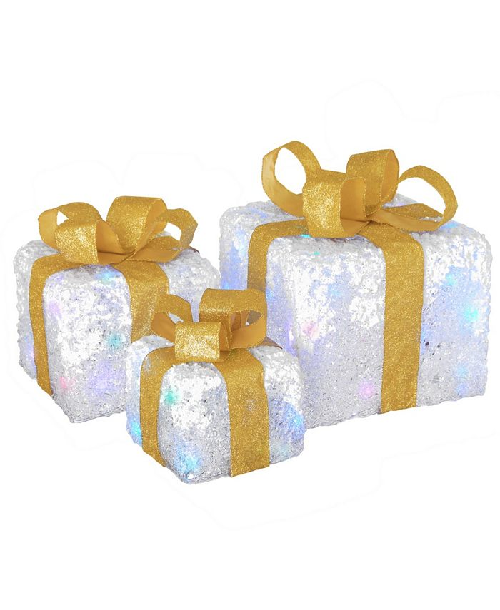 National Tree Company Pre Lit White Gift Box Assortment Reviews Shop All Holiday Home Macy S