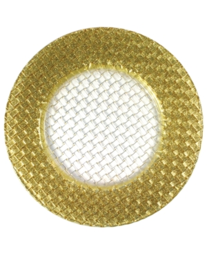 Jay Imports Serveware, Gold Weave Glittered Charger Plate