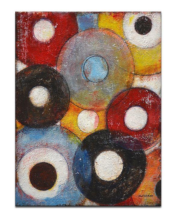 "Ready2HangArt 'Color Wheels II' Colorful Abstract Canvas Wall Art, 30x20"""