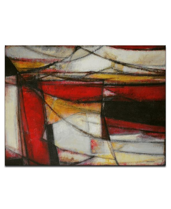 """Ready2HangArt 'Excited' Red Abstract Canvas Wall Art, 20x30"""""""