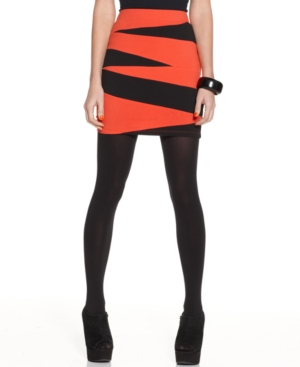 Material Girl Skirt, Fitted Bandage Striped Bodycon Mini