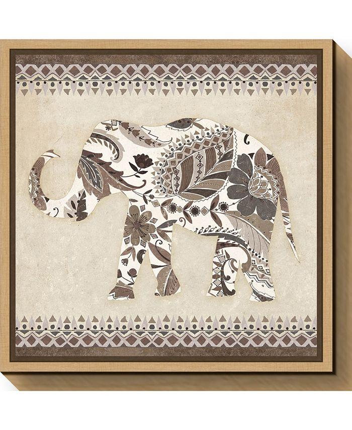Amanti Art Boho Elephant Ii Neutral Canvas Framed Art Reviews Wall Art Macy S