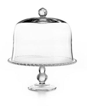 Martha Stewart Collection Serveware, Pressed Glass Cake Stand with Dome