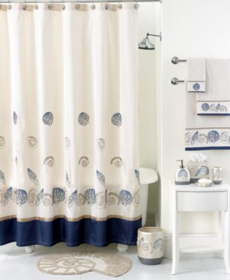 Avanti Bath Accessories, Hampton Shells Shower Curtain
