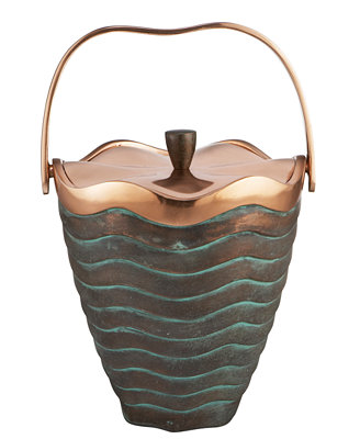 nambe copper canyon ice bucket bar wine accessories