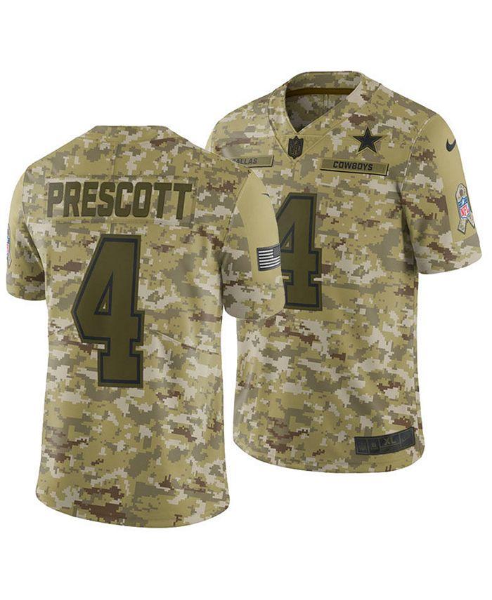 Nike Men's Dak Prescott Dallas Cowboys Salute To Service Jersey ...