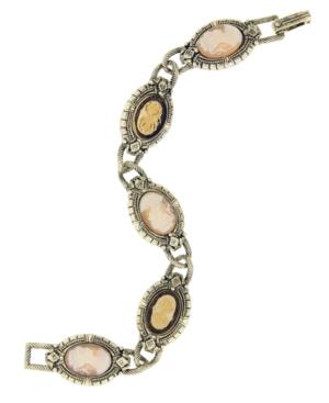 2028 Bracelet, Cameo Chain Link Bracelet