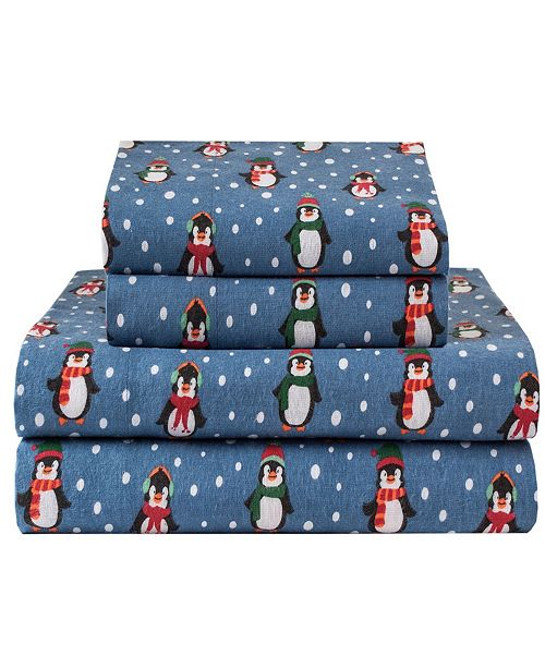 Elite Home Winter Nights Cotton Flannel Full Sheet Set Reviews Sheets Pillowcases Bed Bath Macy S