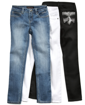 Baby Phat Kids Jeans, Girls Embroidered Skinny Jeans