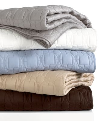 Hotel Collection Deco Quilted Tide Standard Sham Bedding