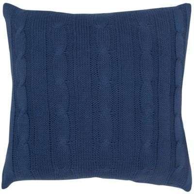 """18"""" x 18"""" Cable Knit Poly Filled Pillow"""