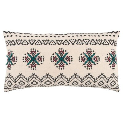 "14"" x 26"" Tribal Design Poly Filled Pillow"