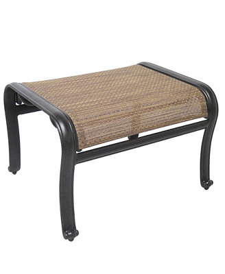 Paradise Aluminum Outdoor Ottoman - Furniture - Macy's