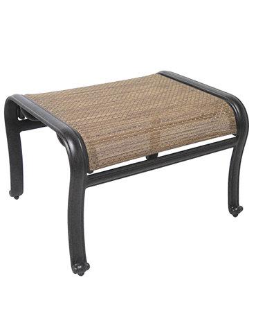 Paradise Aluminum Outdoor Ottoman - Furniture - Macy's