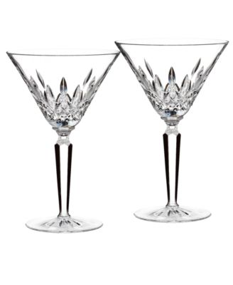 Waterford Stemware, Lismore Martini Glasses, Set of 2