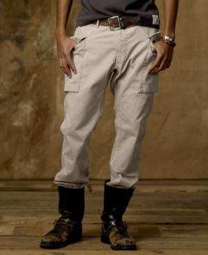 Denim & Supply Ralph Lauren Pants, Slim Fit Military Herringbone