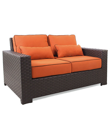 San Lucia Wicker Outdoor Loveseat Furniture Macy 39 S