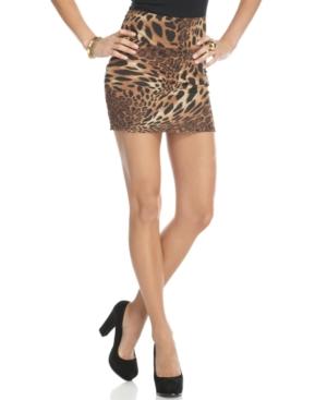 Spoon Jeans Skirt, Animal Print Bandeau Mini