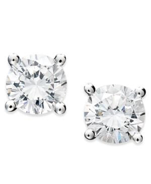 Juliet Diamond Earrings, 14k White Gold Certified Diamond Stud Earrings (1-1/4 ct. t.w.)