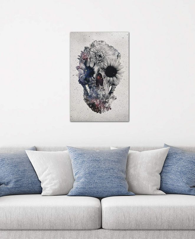 """iCanvas """"Floral Skull #2"""" by Ali Gulec Gallery-Wrapped Canvas Print (26 x 18 x 0.75)"""