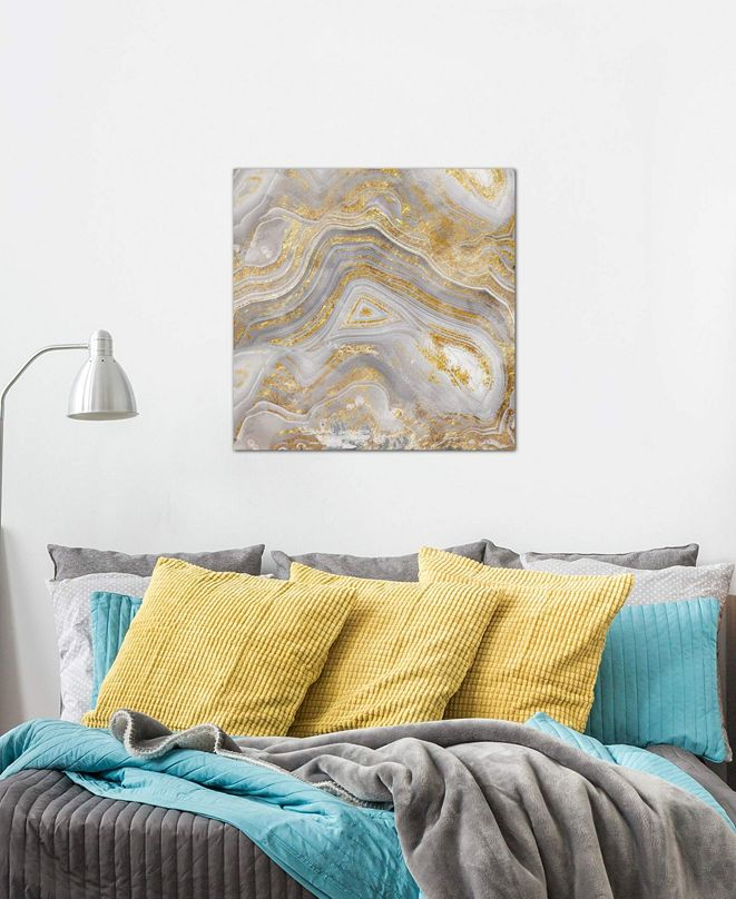 "iCanvas ""Agate Allure II"" by Nan Gallery-Wrapped Canvas Print (18 x 18 x 0.75)"