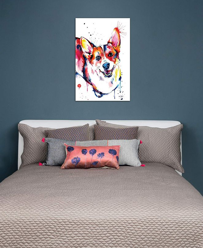 """iCanvas """"Corgi"""" by Weekday Best Gallery-Wrapped Canvas Print (26 x 18 x 0.75)"""