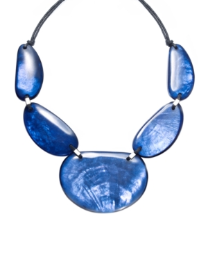 Style&co. Necklace, Blue Shell Statement Necklace