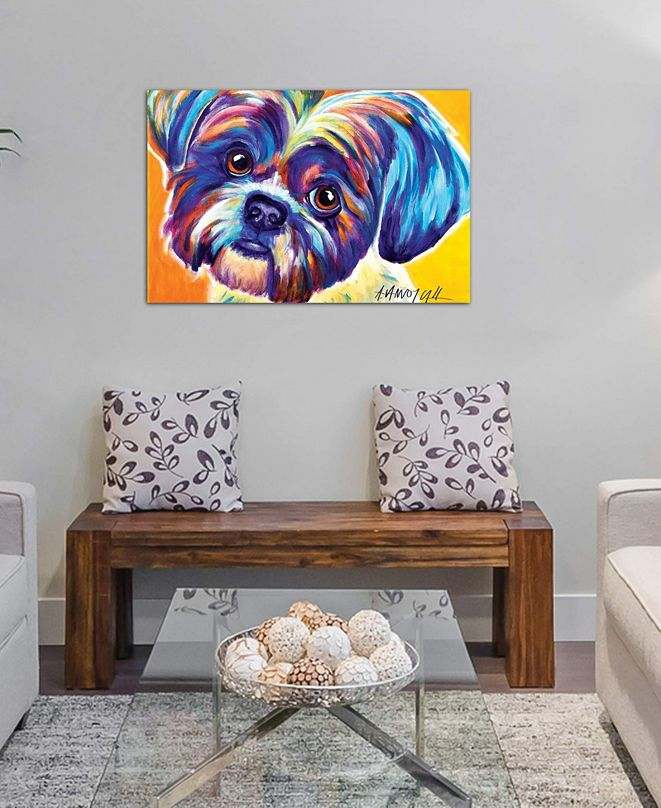 """iCanvas """"Lacey The Shih Tzu"""" by DawgArt Gallery-Wrapped Canvas Print (26 x 40 x 0.75)"""