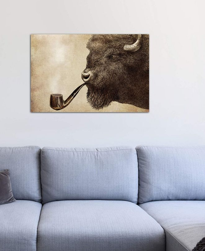 """iCanvas """"Big Smoke"""" by Eric Fan Gallery-Wrapped Canvas Print"""