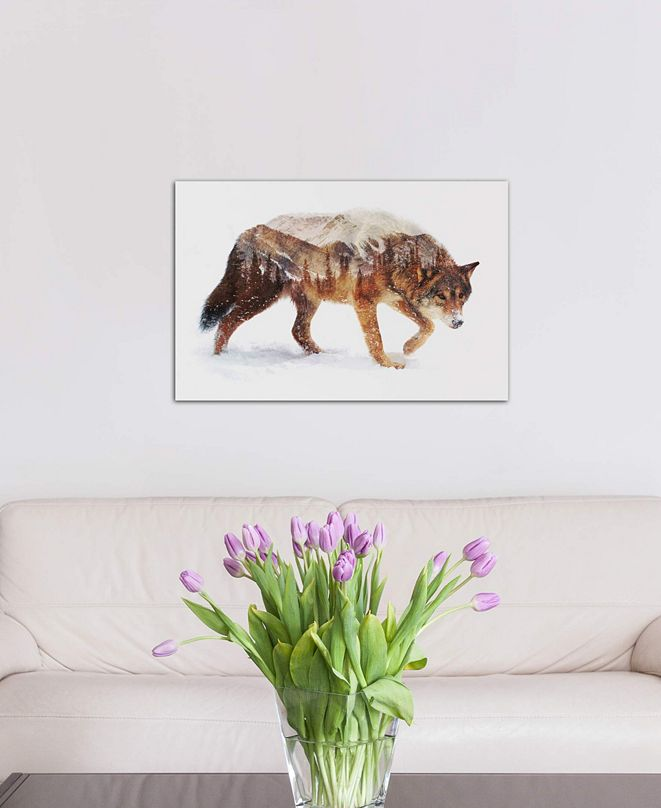 """iCanvas """"Arctic Wolf"""" by Andreas Lie Gallery-Wrapped Canvas Print (18 x 26 x 0.75)"""