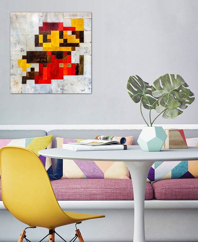 "iCanvas ""Post Modern Mario"" by Francis Ward Gallery-Wrapped Canvas Print (18 x 18 x 0.75)"