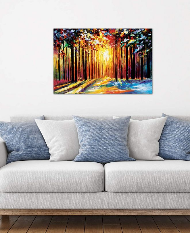 """iCanvas """"Sun Of January"""" by Leonid Afremov Gallery-Wrapped Canvas Print (18 x 26 x 0.75)"""