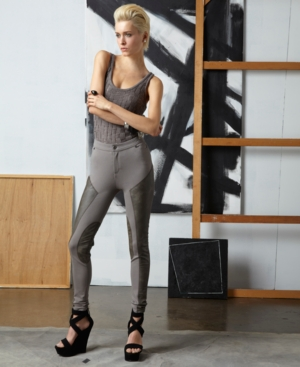 doo.ri for Impulse Pants, Skinny Faux Leather Panelled