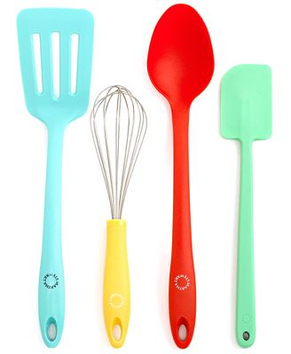 Martha stewart collection utensil set 4 piece color for Colorful kitchen tools