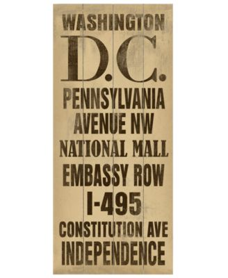 ArteHouse Wall Art, Washington DC Destination Sign