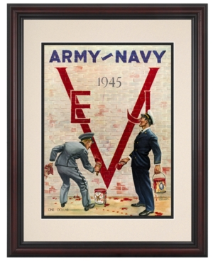 Mounted Memories Wall Art, Framed Army vs Navy Football Program Cover 1945