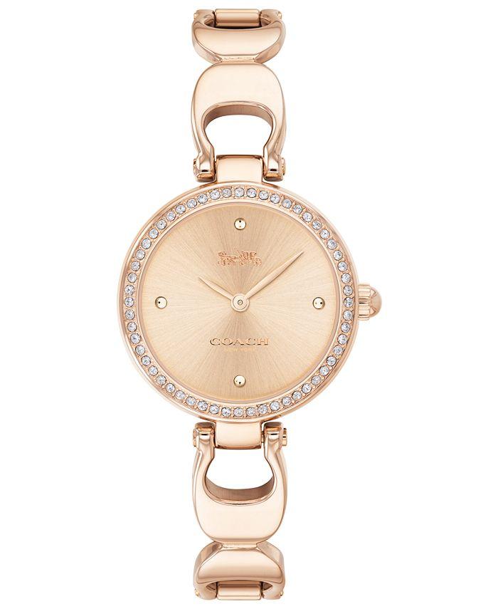 COACH - Women's Park Rose Gold-Tone Stainless Steel Bracelet Watch 26mm