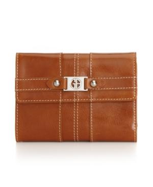 Giani Bernini Handbag, Glazed Flap Indexer Wallet