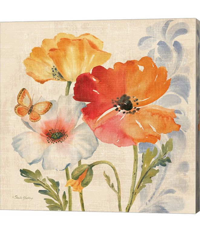 Metaverse Watercolor Poppies Multi II by Pamela Gladding Canvas Art