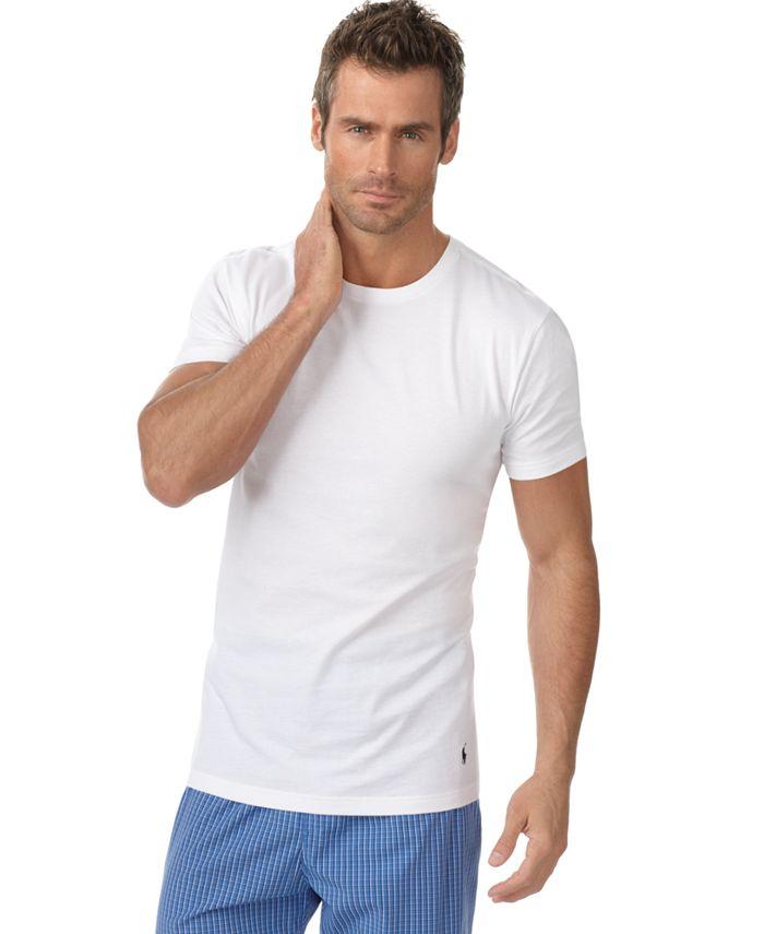 Men's Undershirt, Slim Fit Classic Cotton Crews 5 Pack