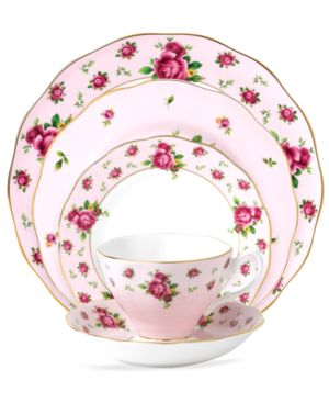 Royal Albert Old Country Roses Pink Vintage 5 Piece Place Setting 641455